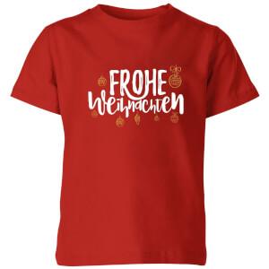Frohe Weihnachten Kids' T-Shirt - Red