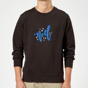 Noel Snowflakes Sweatshirt - Black