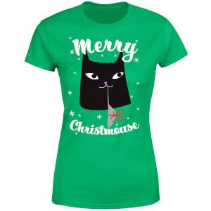 Merry Christmouse Women's T-Shirt - Kelly Green