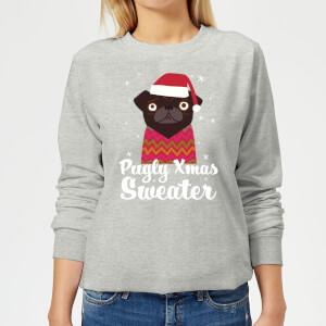 Pull de Noël Femme Pugly xmas Sweater - Gris