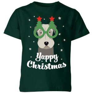 """Camiseta Navidad """"Yappy Christmas"""" - Niño - Verde oscuro"""
