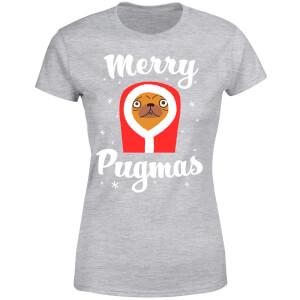 Merry Pugmas Women's T-Shirt - Grey