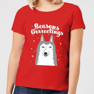 Seasons Grrreetings Women's T-Shirt - Red