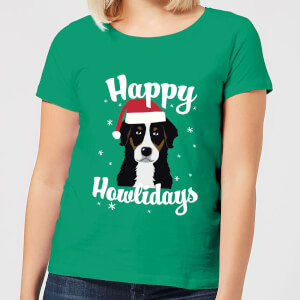 Happy Howlidays Women's T-Shirt - Kelly Green