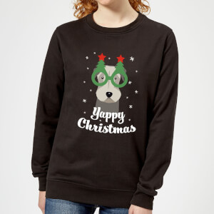Yappy Christmas Women's Sweatshirt - Black