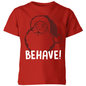 Behave! Kids' T-Shirt - Red