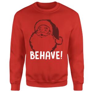 Behave! Sweatshirt - Red