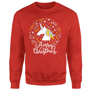 Unicorn Christmas Red Sweatshirt