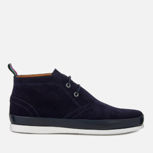 PS by Paul Smith Men's Cleon Suede Lace Up Boots - Dark Navy