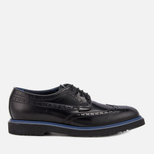 Paul Smith Men's Crispen High Shine Leather Stack Sole Brogues - Black