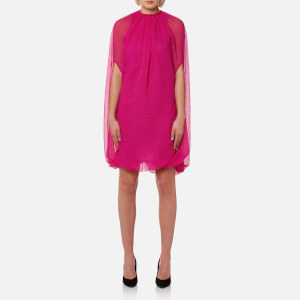 Helmut Lang Women's Grid Chiffon Balloon Dress - Magenta