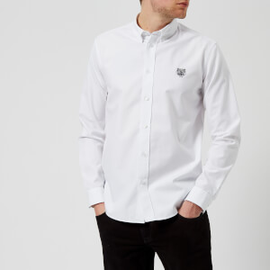 KENZO Men's Tiger Crest Casual Fit Oxford Shirt - White
