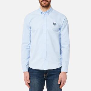 KENZO Men's Tiger Crest Casual Fit Oxford Shirt - Light Blue