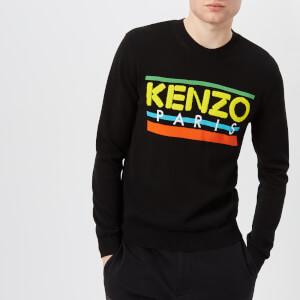 KENZO Men's Crew Neck Retro Logo Knitted Jumper - Black