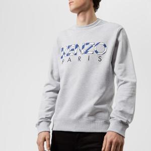 KENZO Men's KENZO Paris Embroidered Sweatshirt - Pale Grey