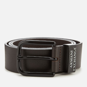 Armani Exchange Men's Leather Belt - Brown