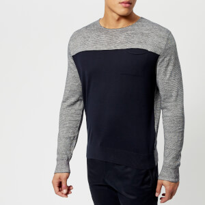 Armani Exchange Men's Knitted Pullover - Navy/White