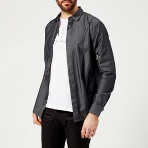Armani Exchange Men's Sleeve Pocket Shirt - Denim Indigo