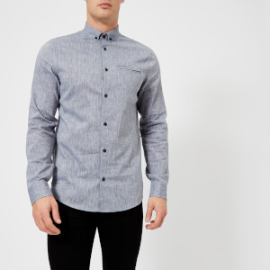 Armani Exchange Men's Chambre Long Sleeve Shirt - Chambray Navy
