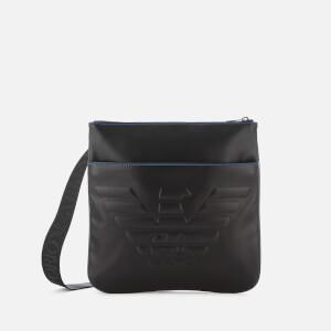 Emporio Armani Men's Big Flat Messenger Bag - Black
