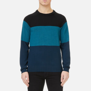 Michael Kors Men's EFM Crew Neck Colour Block Sweater - Black
