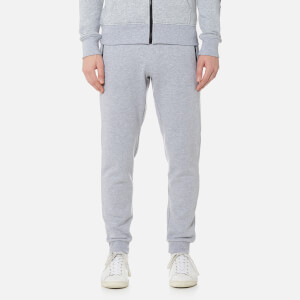 Michael Kors Men's Fleece Logo Nylon Trim Cuffed Sweatpants - Heather Grey