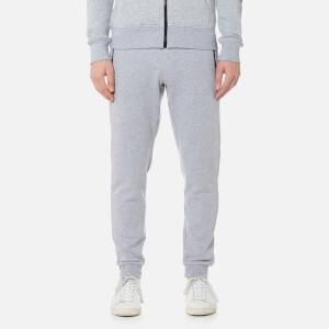 Michael Kors Men's Fleece Logo Nylon Trim Cuffed Sweatpants - Heather Grey
