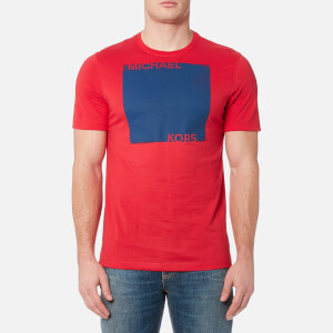 Michael Kors Men's Colourfield Square Logo T-Shirt - Flame