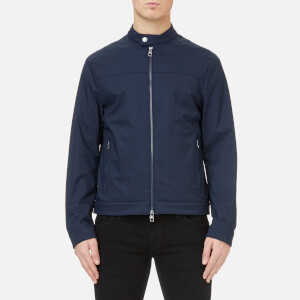 Michael Kors Men's Stretch Nylon Moto Jacket - Midnight