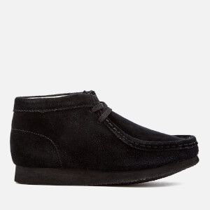 Clarks Originals Kids' Wallabee Boots - Black Suede