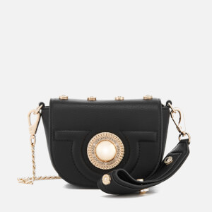 Versace Jeans Women's Flap Over Cross Body Bag - Black