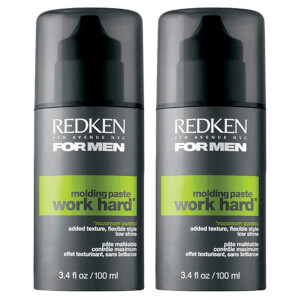 Redken For Men Work Hard Power Paste Duo (2 x 100ml)