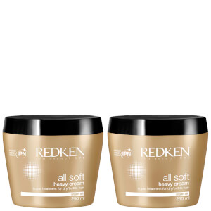 Redken All Soft Heavy Cream -hiusnaamiosetti (2 x 250ml)