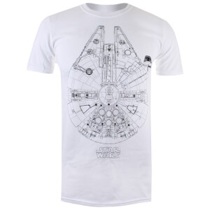 Star Wars Men's Millenium Lines T-Shirt - White