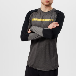 Under Armour Men's Perpetual Fitted Long Sleeve Top - Black/Metallic Gold