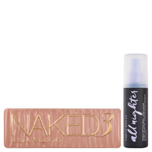 Conjunto de paleta e spray de fixação Urban Decay Naked 3 Palette and Setting Spray Bundle