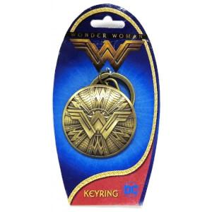 DC Comics Wonder Woman Pewter Shield Keyring