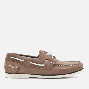 Tommy Hilfiger Men's Classic Suede Boat Shoes - Taupe