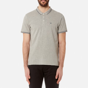 Emporio Armani Men's Small Logo Polo Shirt - Grigio Mel.Ch