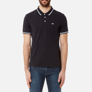 Emporio Armani Men's Small Logo Polo Shirt - Blu Scuro