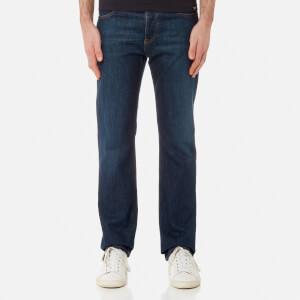 Emporio Armani Men's J21 5 Pocket Regular Fit Jeans - Blu
