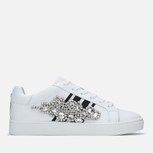 Carvela Women's Lustre Leather Cupsole Trainers - White