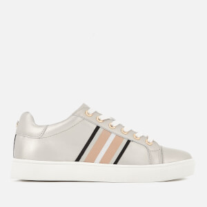 Carvela Women's Larson Leather Low Top Trainers - Silver