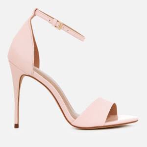 Carvela Women's Glimmer Patent Barely There Heeled Sandals - Nude