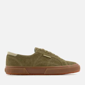 Superga Men's 2386 Suede FGL Trainers - Green Dark Forest