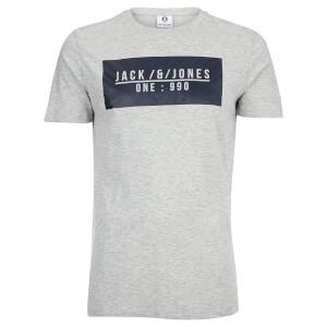 Jack & Jones Men's Core Pressed T-Shirt - Light Grey Marl
