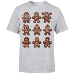 Star Wars Christmas Gingerbread Characters Grey T-Shirt