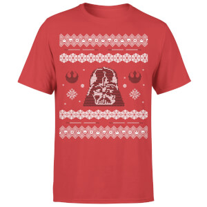 Star Wars Christmas Darth Vader Knit Red T-Shirt