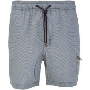 Dissident Men's Vittorino Fine Stripe Swim Shorts - Black