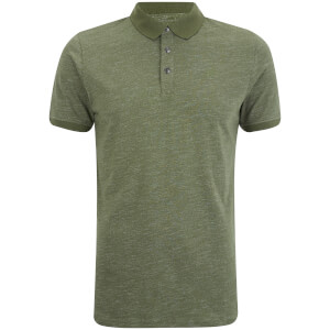 Dissident Men's Dace Textured Polo Shirt - Thyme